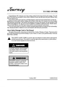 2004 Journey owner manual