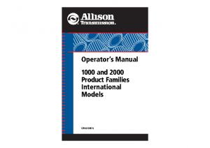 allison transmission operators manual