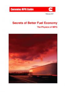 diesel mileage secrets