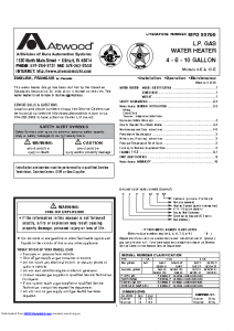 Atwood Water Heater Manual GCH10A-4e